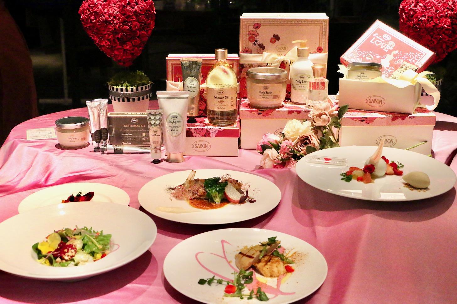 ザ ストリングス表参道でSABONコラボレーション バレンタインディナー
