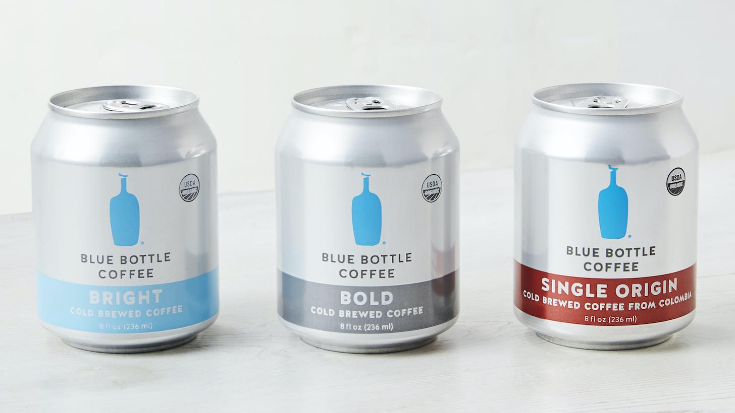 コールドブリュー缶(左から、ブライト、ボールド、シングルオリジン)(各236ml)各640円