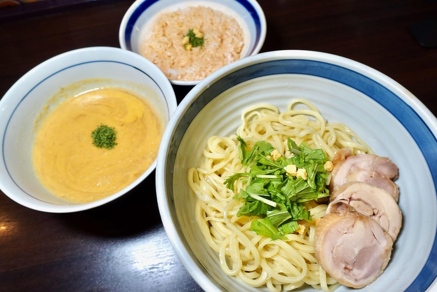 うにソースつけ麺 〆の海老のビスク・リゾットつき(数量限定・時間限定)