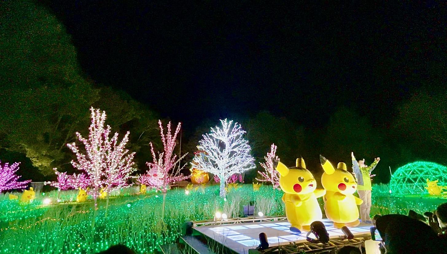 ピカチュウの光の森「ピカチュウのピカピカ点灯ショー」や撮影会も