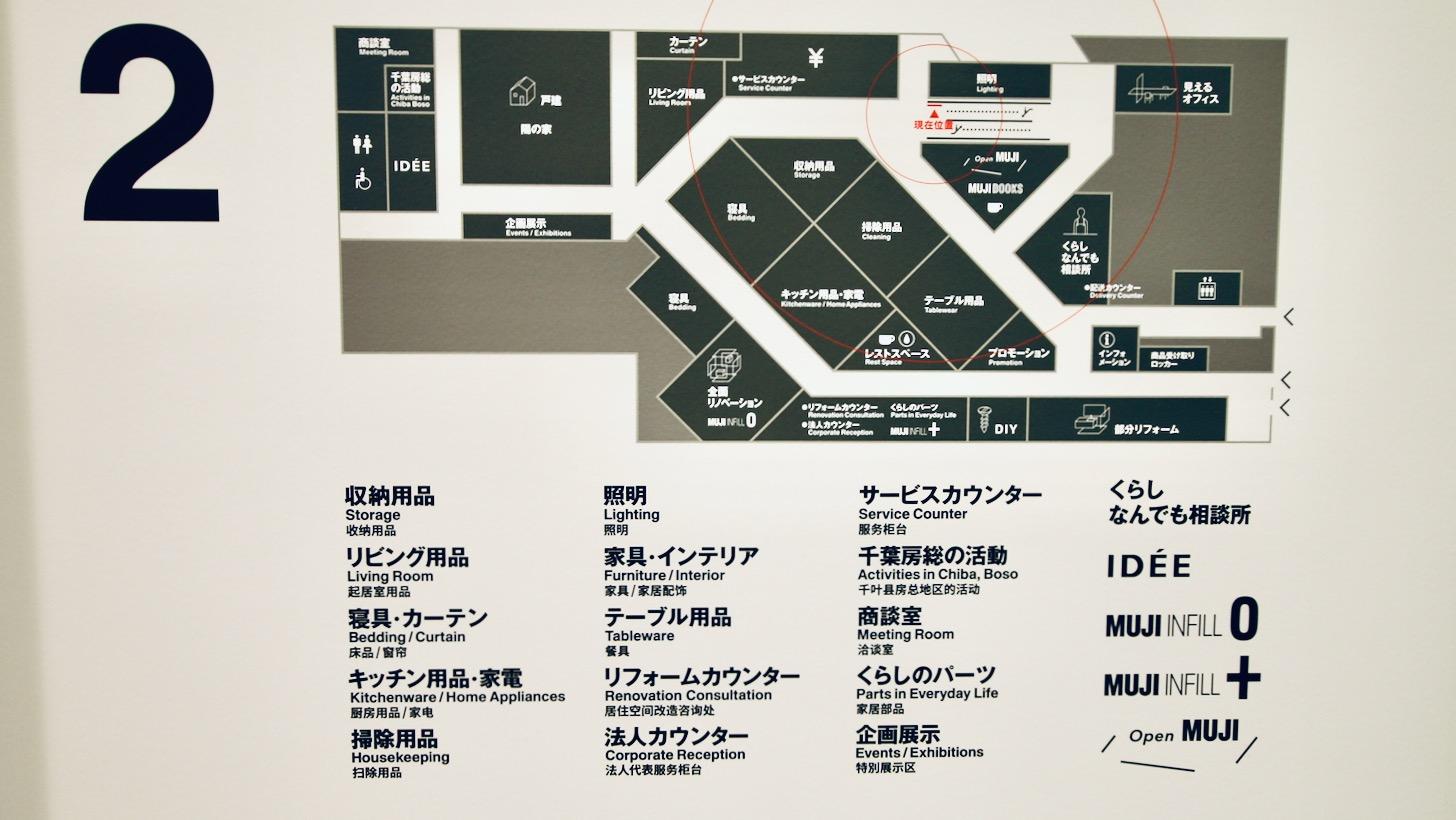 無印良品 東京有明2階のマップ