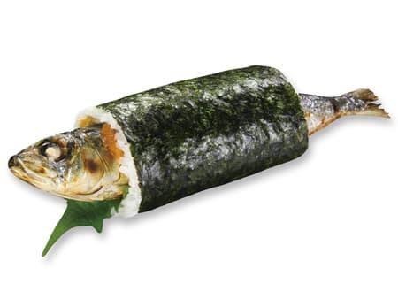 まるごといわし巻 350円(税込378円) (いわし塩焼き、大葉、梅肉)