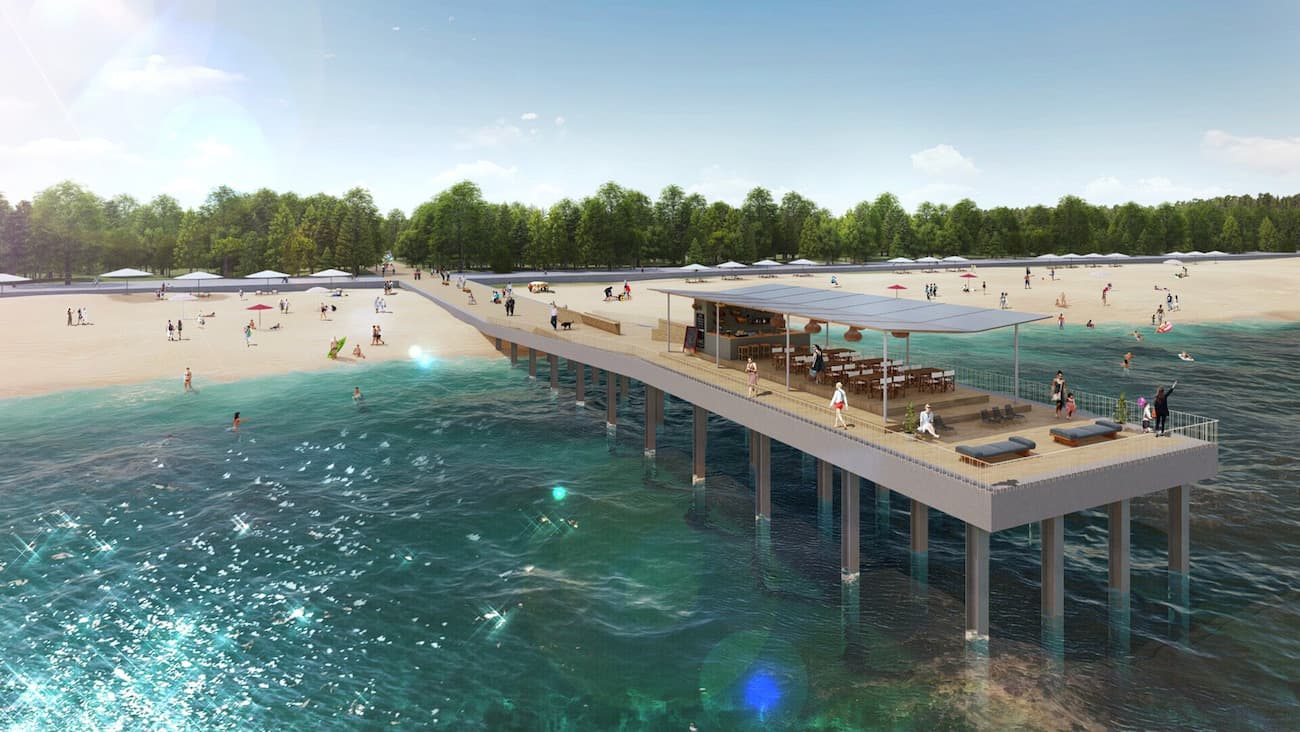 2022年3月には「いなげの浜」にウッドデッキ